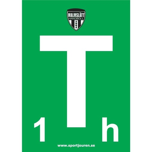 Time Out Kort Med Logo Handboll Domare Tillbehor Sportjouren